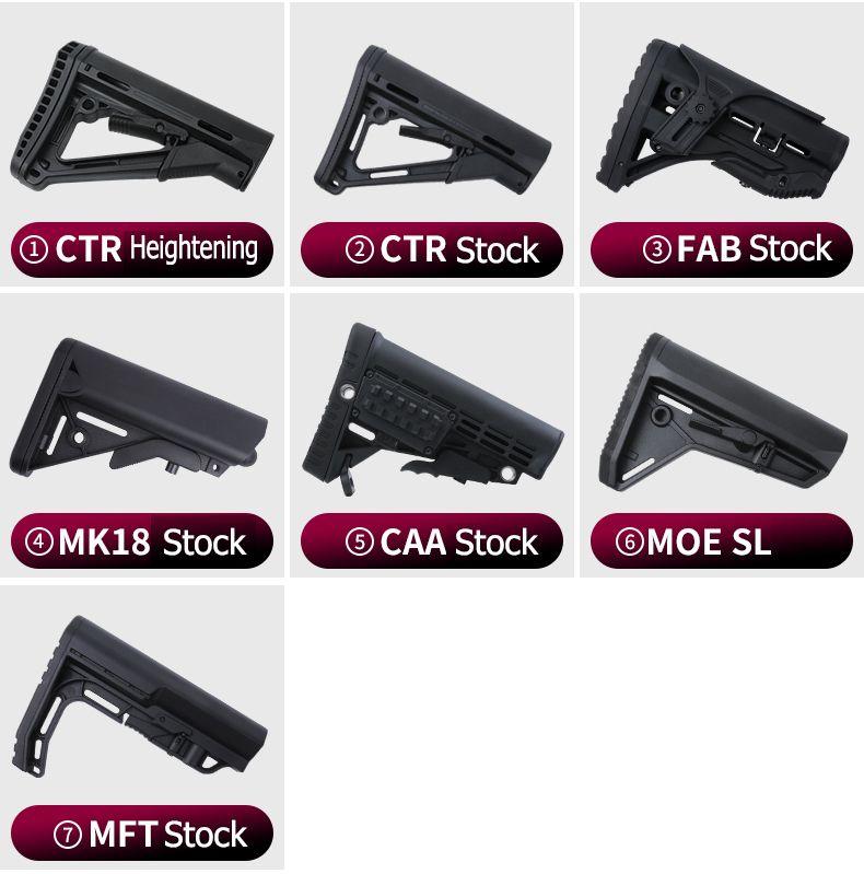 고품질 전술 플라스틱 AR15 M4 M16 시리즈에 대한 교체 엉덩이 증권 기병 증권 드롭 인 (drop-in)