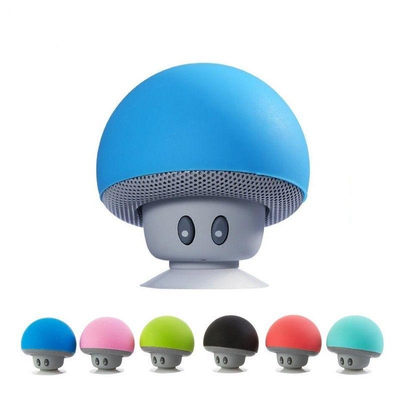100x Wholesell del fumetto fungo senza fili Bluetooth Speaker impermeabile Sucker Mini Bluetooth Speaker audio esterna portatile della staffa da DHL