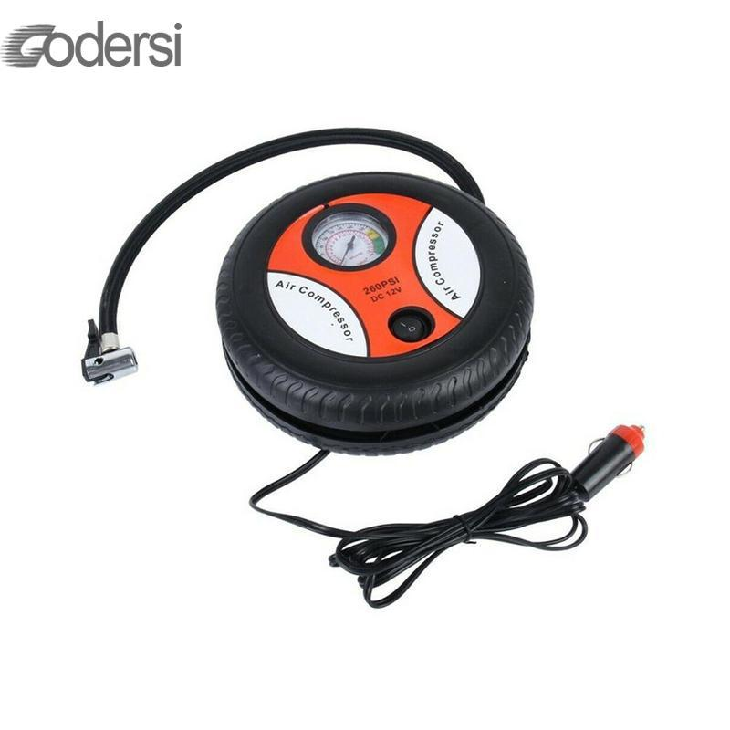 Electric Tire Inflator Mini Portable Car Air Compressor DC 12V Auto Inflatable Pumps Electric Tire Inflaters