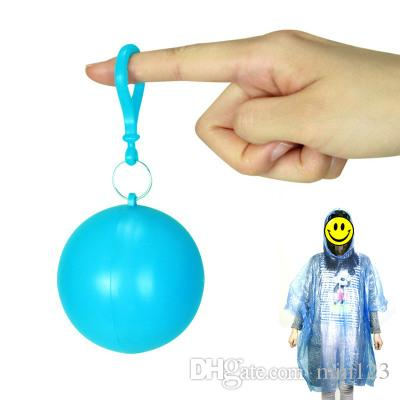 Creative Ball Plastic Raincoat Portable Disposable Rain Coat Outdoor Camping Hiking Emergency Poncho Adult Universal Rainwear