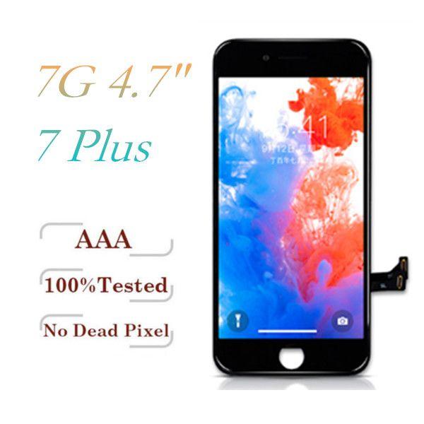 Sınıf A + + + LCD iPhone 7 7 Artı Tianma Qaulity Çerçeve Tam Meclisi ile Ekran Dokunmatik Ekran Digitizer Yedek parçaları