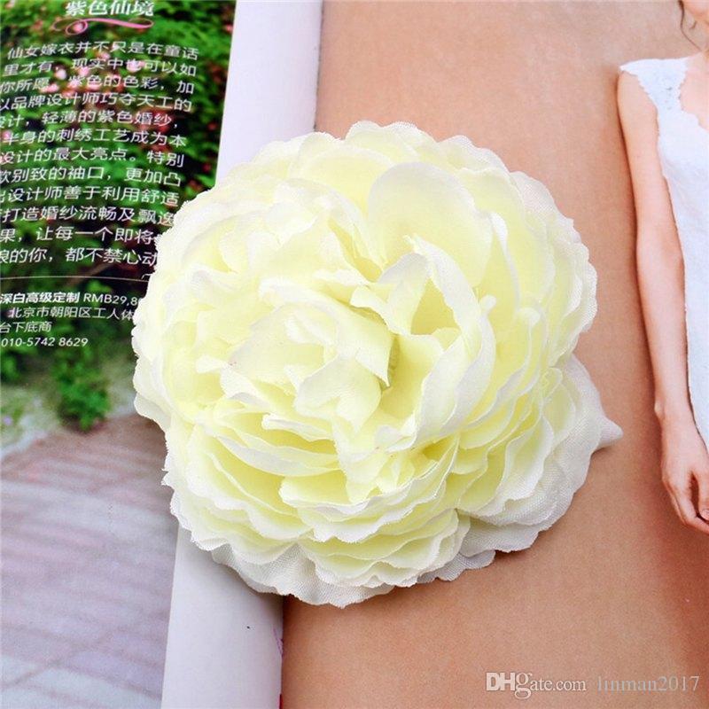 2018 جودة عالية 10 قطع الاصطناعي الفاوانيا الحرير الزهور رؤساء diy منزل الديكور الاكسسوارات هدية الزفاف mw45236