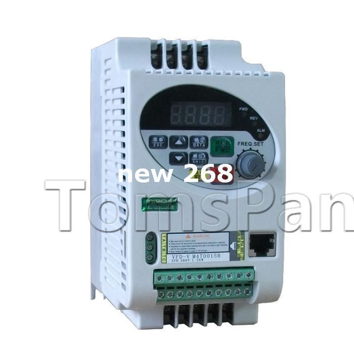 Freeshipping High quality 380V VFD-V variable low Frequency drive inverter Converter 3 phase vfd 1.5kw for motor