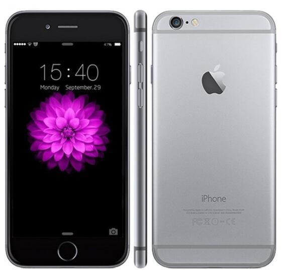 Recuperado iPhone 6 Plus Com Touch ID 5,5 polegadas IOS 11 de 16GB / 64GB / 128GB Recuperado Desbloqueado Celular grátis DHL