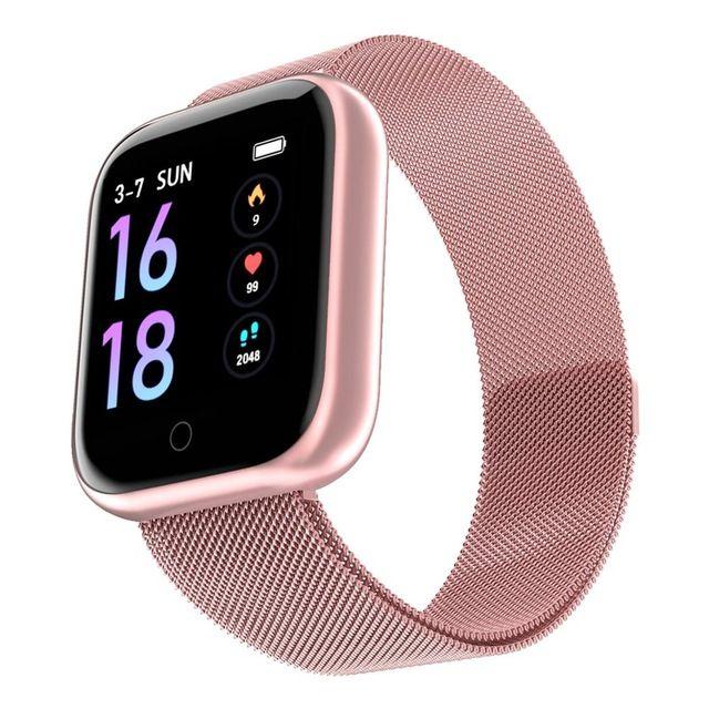 Femmes Mode T80 Montre Intelligente Ip68 Étanche Cardiaque Tensiomètre Pour Iphone Hommes Sport Fitness Tracker Smartwatch PK IWO 5