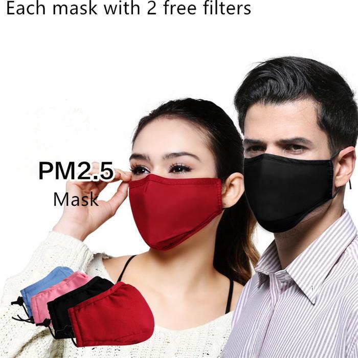 Anti polución y PM 2.5 Boca máscara máscaras contra el polvo reutilizable lavable de algodón unisex de la boca de mufla para el recorrido 10pcs