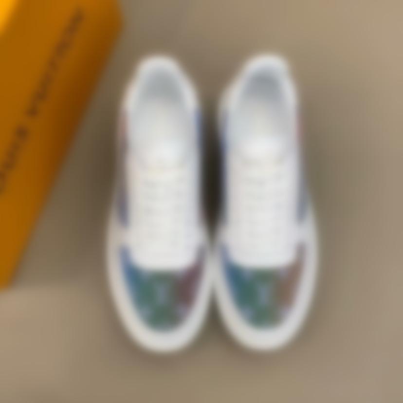 2020 New Men casuaisLouissapatosVuittonmocassins cores misturadas respirável artesanal Mocassins moda deslizamento sapatos sociais # 1 09
