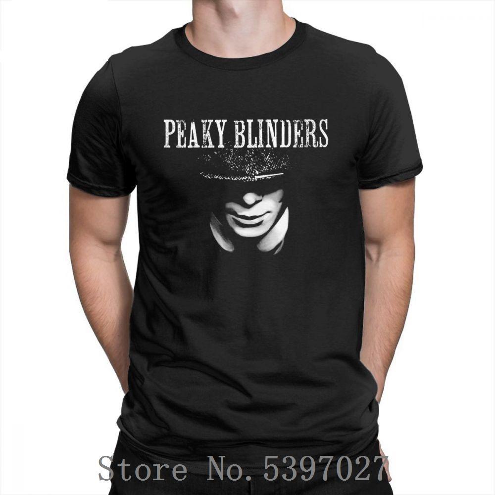Peaky oeillères T-shirt coton pour hommes T-shirts Plus Size Fashion 2020 O-Neck Confortable Vêtements T-shirt manches courtes d'été