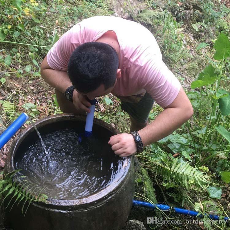 Kemping zewnętrzny Przenośny Filtr Purpura Ssanie Outdoor Wild Water Purifierhiking, Camping, bezpieczna woda pitna i zdrowa woda pitna