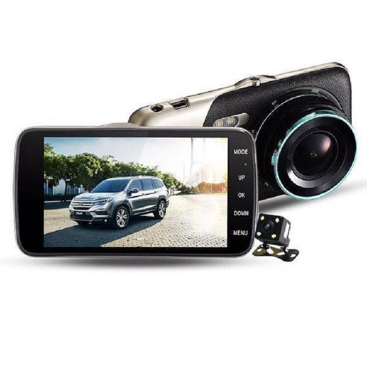 4-inch dual lens dash cam front and back dual recording reverse image HD night vision Mini hidden DVR Car recorder