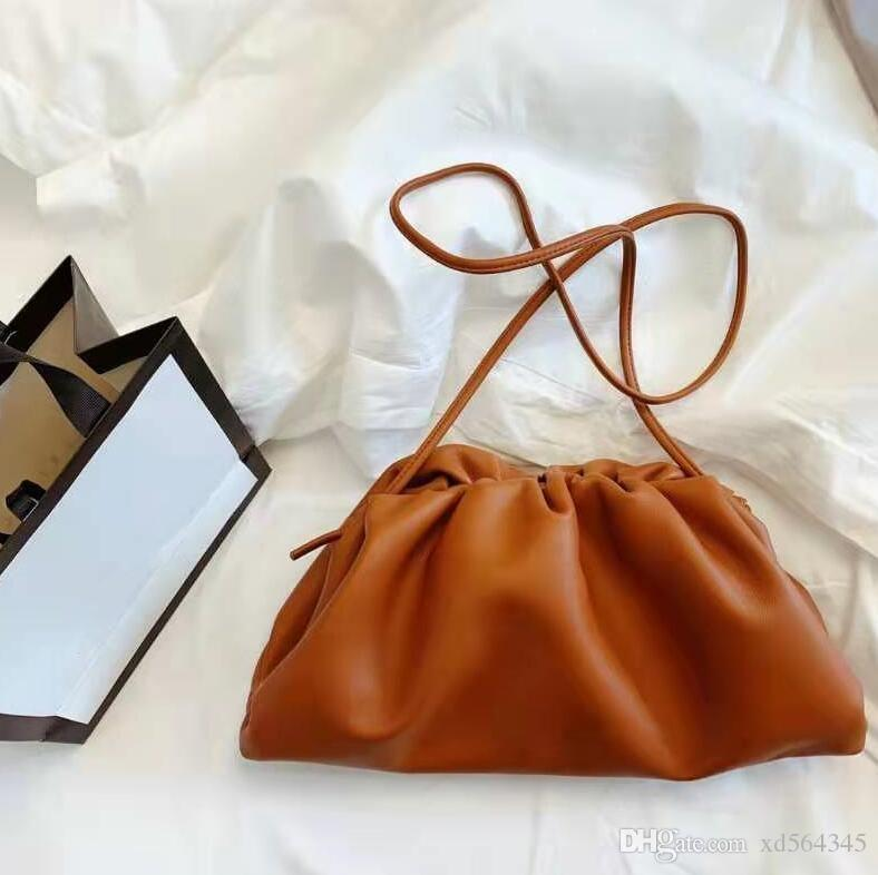 NO.1 cloud borsa delle donne borse di lusso del progettista borse borse a tracolla plaid vacchetta borsa borse borse di corsa di modo di marca in vera pelle