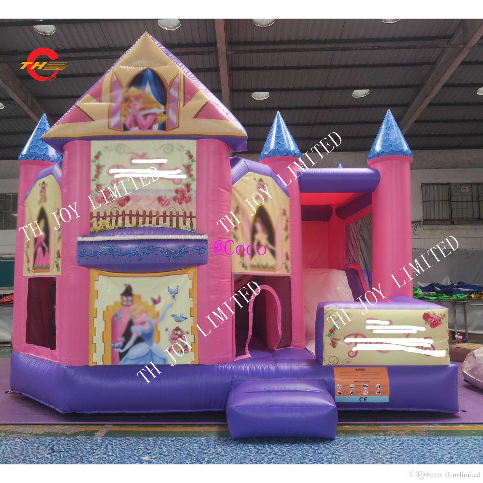 5x4 متر نفخ الحارس الوردي الشريحة ، ترتد منزل السرد ، نفخ القفز التمشي القلعة ، قلعة نطاط