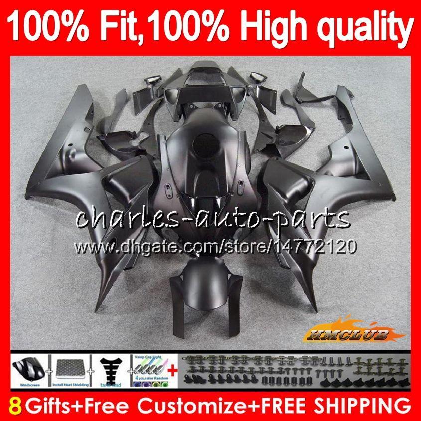 Injektion OEM för Honda Matte Black CBR 1000cc 1000 RR 06 07 Kropp 78HC.10 CBR1000 RR CBR 1000RR CBR1000RR 06 07 2007 2007 100% FIT FAIRING