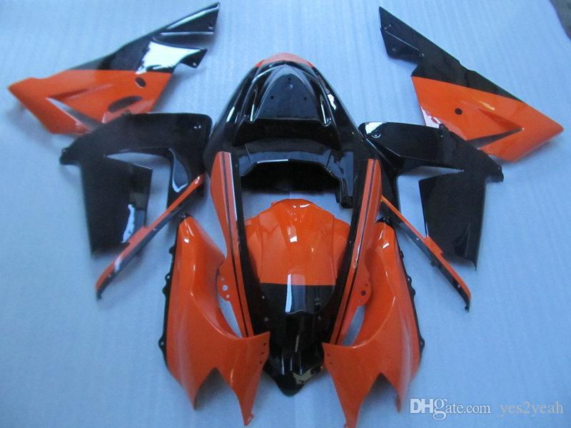 Kit carénage de carénage rouge noir pour KAWASAKI Ninja ZX10R 04 05 Carrosserie ZX-10R ZX 10R 2004 2005 Set carénage + 7gifts