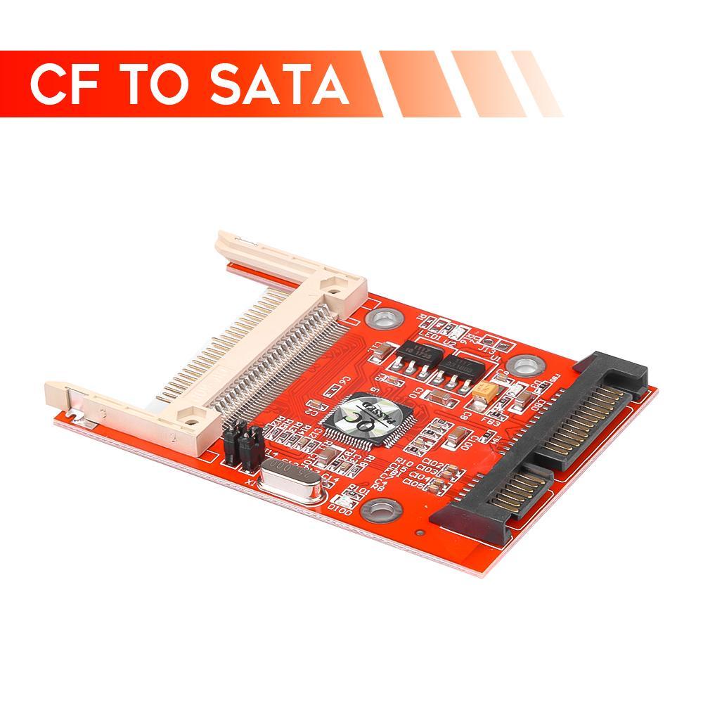 "Computador Escritório Kebidu 2,5 \"" 22Pin conversor adaptador Compact Flash Serial ATA HDD cartão de disco rígido CF Para Sata Adaptador CF Compact"