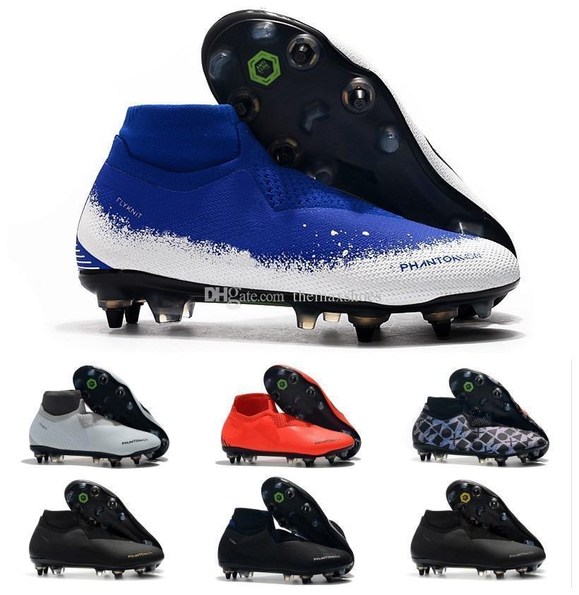 Hot Fantasma Visão Elite DF SG VSN Mens Alta Tornozelo Chuteiras de Futebol Sapatos de Alta Qualidade Tamanho EUA 6.5-11
