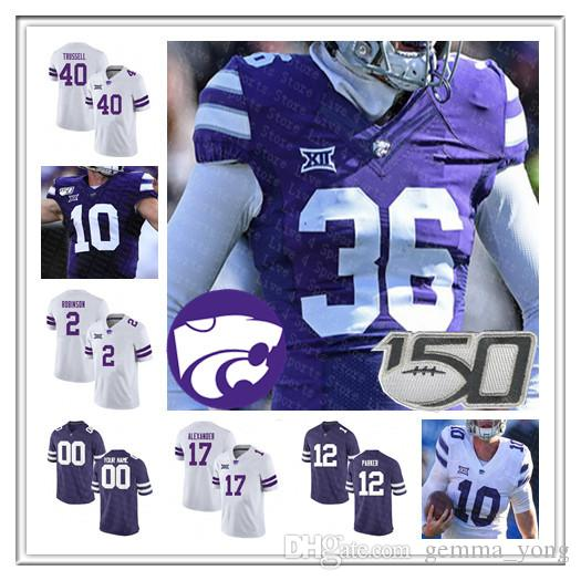 NCAA Kansas State Wildcats Jersey de la universidad de fútbol James Gilbert Skylar Thompson Jordy Nelson Darren Sproles Collin Klein Lockett personalizada