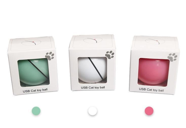 أحدث الليزر لعب لعب مستلزمات الحيوانات الأليفة القط القط USB مستلزمات الحيوانات الأليفة الجديدة LED فلاش المتداول الكرة لعبة القط متوهجة الكرة