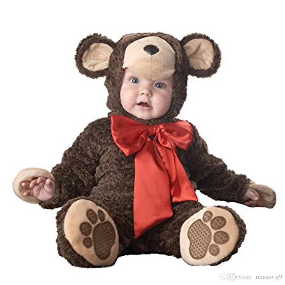 NEW Baby Christmas Halloween Cosplay Costume Peacocks polar bears leopards monkeys Jumpsuit Boys Girls Clothes Set Kids Outfits
