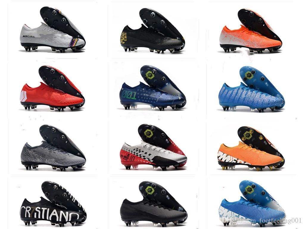 أعلى جودة زئبقي ال superfly السابع 7 أحذية النخبة SG كريستيانو رونالدو لكرة القدم CR7 دريم عالية السرعة الكاحل نيمار أحذية كرة القدم المرابط 6،5-12