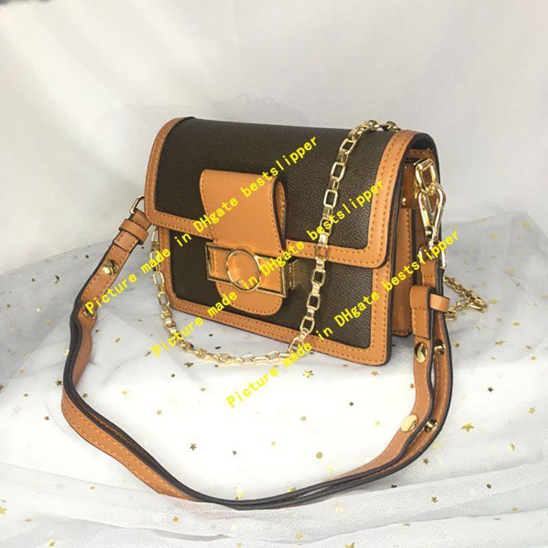 Classic Mini Tote Dauphine Women Borse a catena Crossbody Flap Borsa a tracolla Monograms Lady Messenger Bag Borsa Flower frizione Fashion Fashion Sera XHTO