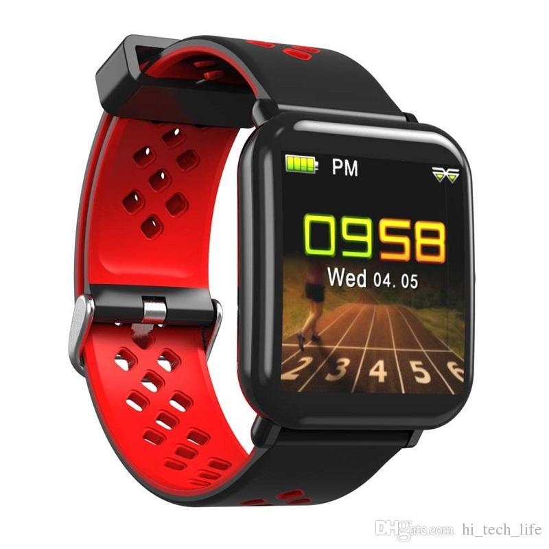 الروبوت الساعات الذكية شاشة ملونة اللياقة البدنية ساعة ذكية المقتفي سمارت ووتش سوار ذكي مقاوم للماء مع الهواتف القلب ريلوخ inteligente