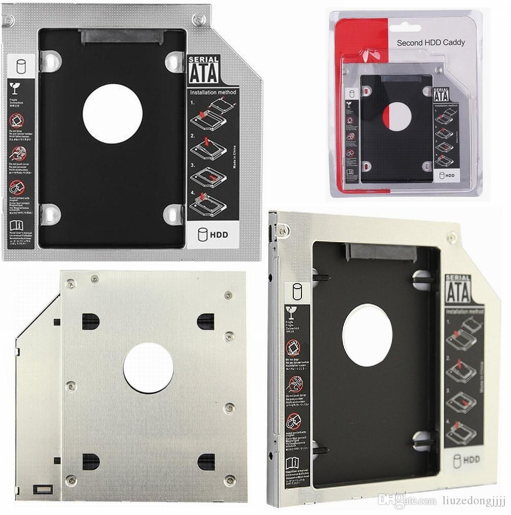 """Universal SATA to 2nd HDD Caddy 9.5mm 12.7mm For 2.5"""" SSD Case Hard Disk Drive Enclosure for Laptop ODD Optibay Optical Bay"""