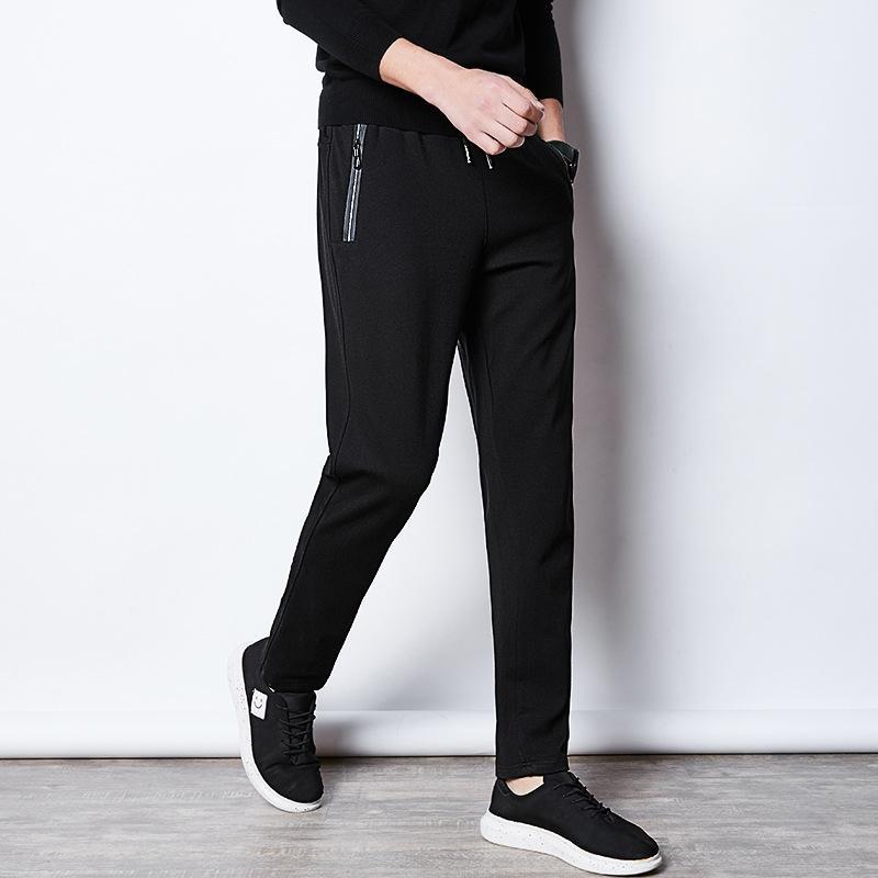 Pantalones ocasionales de los hombres los hombres con sobrepeso Pantalones Hombres Ropa de Calle Negro Moda pantalón más el tamaño de Deporte Pantalones Hombre de trajes