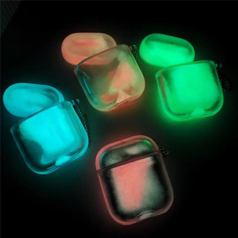 Luminoso fluorescente Quicksand alla deriva di protezione copertura per Airpods Airpods 1 2 Caso Pro Bluetooth Wireless Headset creativo anticaduta PC