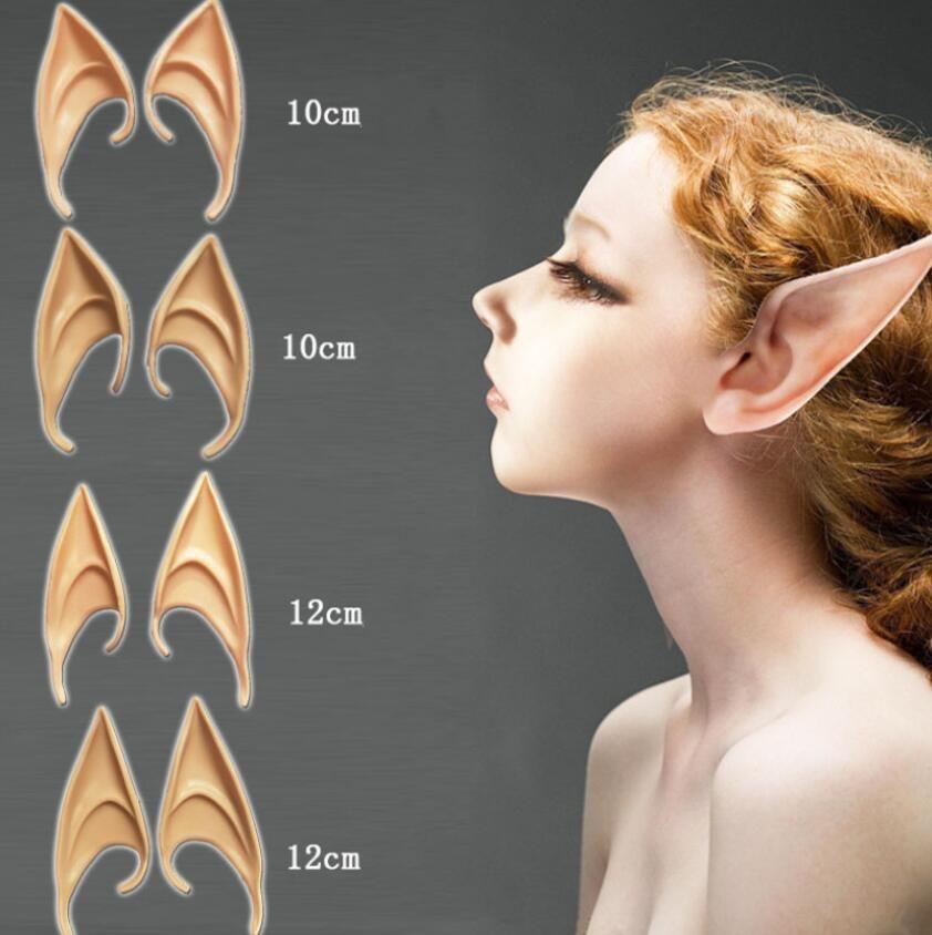 Gizemli Elf Kulaklar peri Cosplay Aksesuarları Lateks Yumuşak Protez Yanlış Kulak Cadılar Bayramı Partisi Maskeleri Cosplay Maske Boyutu 10 cm Ve 12 cm