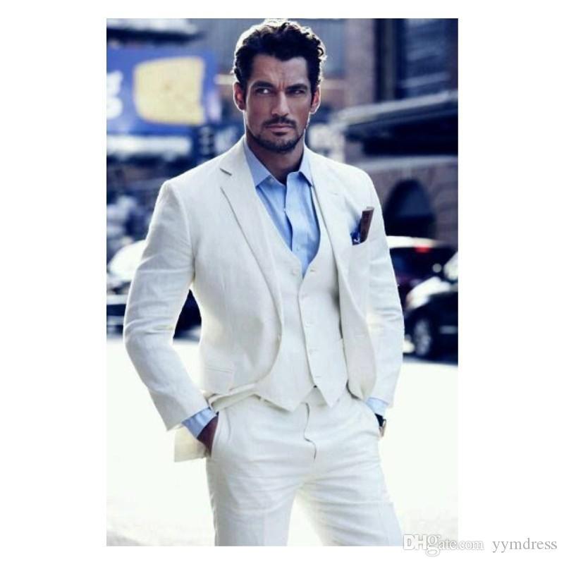2019 Wedding Suit for Men Slim Fit Two Button Notch Lapel 3 Piece Groom Tuxedos Prom Blazer (Jacket+Pants+Vest)