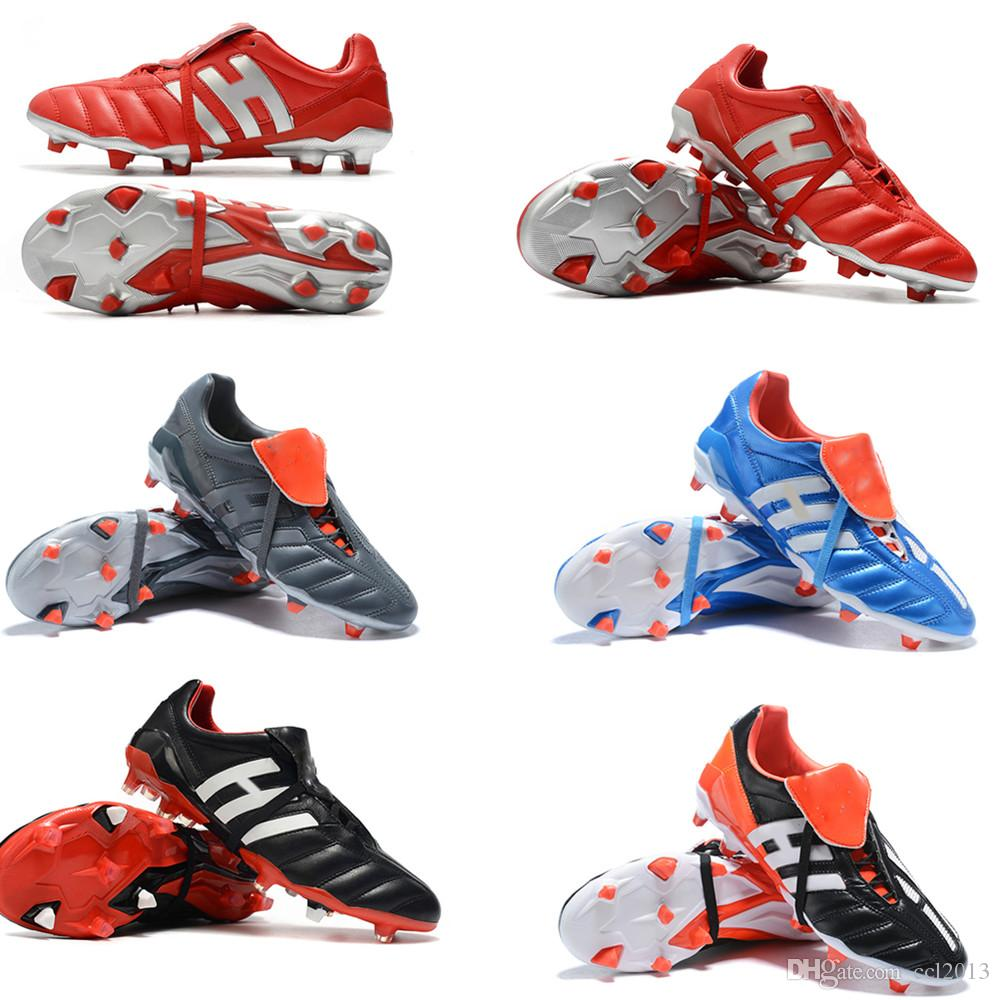 New 2020 Classics Predator Mania OG FG Red Silver White LIMITED EDITION Beckham ZZ 1998 Men soccer shoes cleats football boots us6.5-11