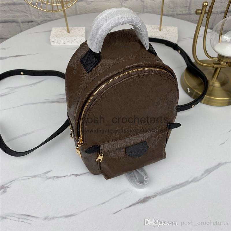 Palm Springs ميني حقيبة الظهر حقيبة يد نسائية المحافظ جلد طبيعي تريم حقيبة الظهر في حقيبة الظهر حجم صغير للبيع