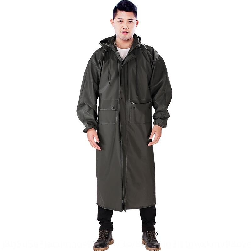 wBU49 Waterproof Hiking poncho widened thickened adult jumpsuit and wo outdoor fishing lengthened sleeve Waterproof Hiking poncho Cloak cloa