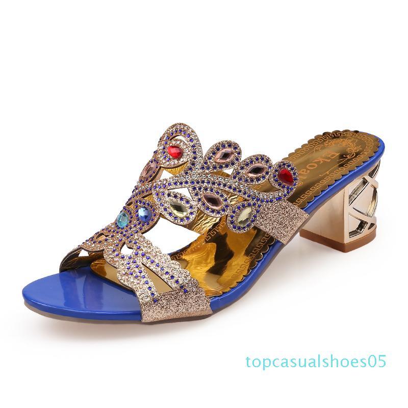 Ekoak Yeni 2017 Yaz ayakkabıları Çiçek Yapay elmas kesme-çıkışları Kadınlar Yüksek Topuk Sandalet Bayan Parti Elbise Ayakkabıları Kadın Boyutu 36-41 t05