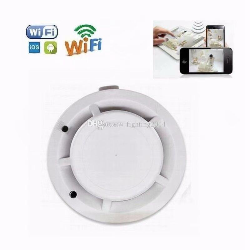 Wireless wifi mini IP camera HD 1080P remote control Smoke Detector video recorder with Real Smoke Alarm home security camcorder