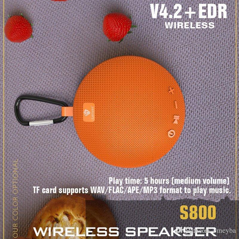 s800 Outdoor Hanging V4.2 Rodada + DER Mini sem fio Bluetooth Speaker Portátil IPX5 impermeável Música alto-falantes sem fio Suporte TF PK clipe 2 3