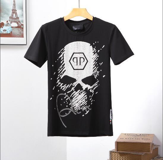 Novo Verão Algodão Camisas Dos Homens T Moda Curto-luva Impresso Diamante Fornecimento Co Masculino Tops Tees Skate Marca Hip Hop Roupas Esporte # 117