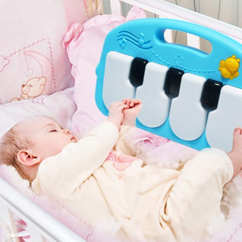 Tapis de jeu Baby Gym Tapis Jouets Jeux de 0-12 mois doux éclairage hochets Musique pour enfants Tapis de bébés rampants Tapis d'Jouets