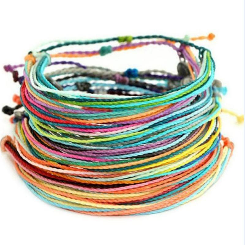 Cera Discussione braccialetto tessuto fatto a mano Multilayer amicizia gioielli della stringa della cera Bracciali multicolore regolabile braccialetto intrecciato KHN02