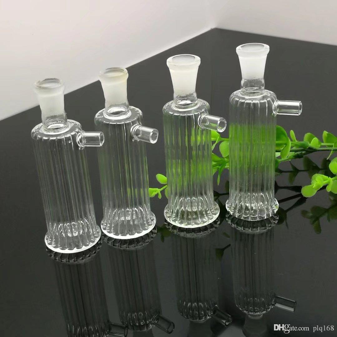 Mini pote de filtro de vidrio rayado bongs de vidrio quemador de aceite Pipas de agua de cristal plataformas petrolíferas más totalmente gratis