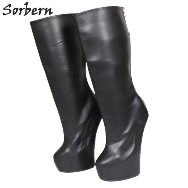 Sorbern Heavy Hoof Heels Matte Black