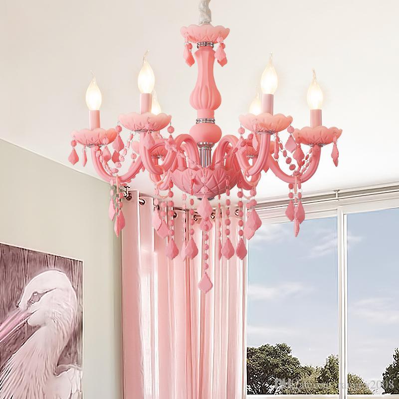 Girls Room Chandelier Living Room Bedroom Kids Room Chandeliers Lampadario  Lustre Fixture Pink Chandelier Lighting Fixtures Victorian Chandelier ...