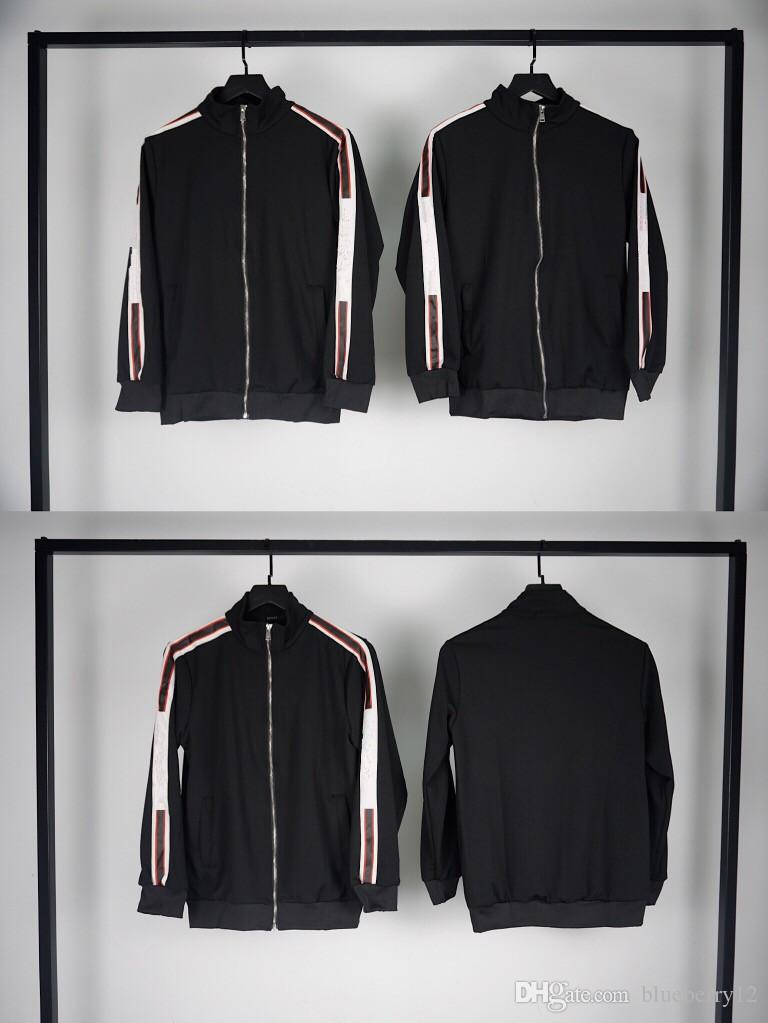 معطف رجالي سترات خريف وشتاء طباعة رسالة اللون الأسود سترات للرجال والنساء آسيا حجم M-2XL