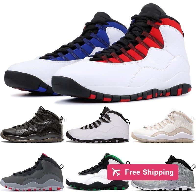 2020 최신 10 개 남성 농구 신발 10 초 웨스트 브룩 클래스 Greyseattle Vo에 블랙 화이트 스틸 회색 시멘트 디자이너 운동화 크기 40-47 연기