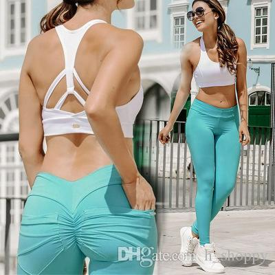 2019 Femmes Pocket Yoga Outfits Dames Sports Full Leggings Dames Pantalons Exercice High-Taille Sexy Fitness Wear NWPBC
