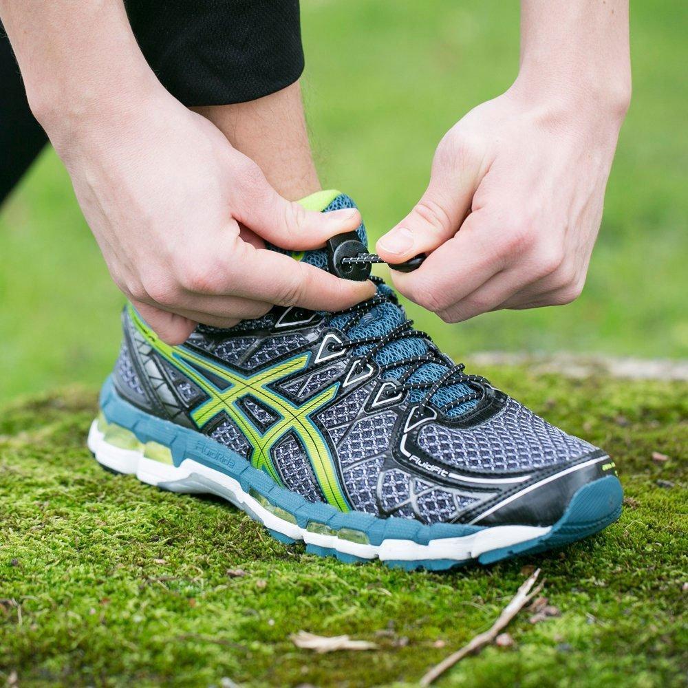 0.3cm * 120cm elástico Sin lazo Junta cordones Senderismo Botas Zapatos y Calzado casual zapato de los cordones Un tamaño para todos
