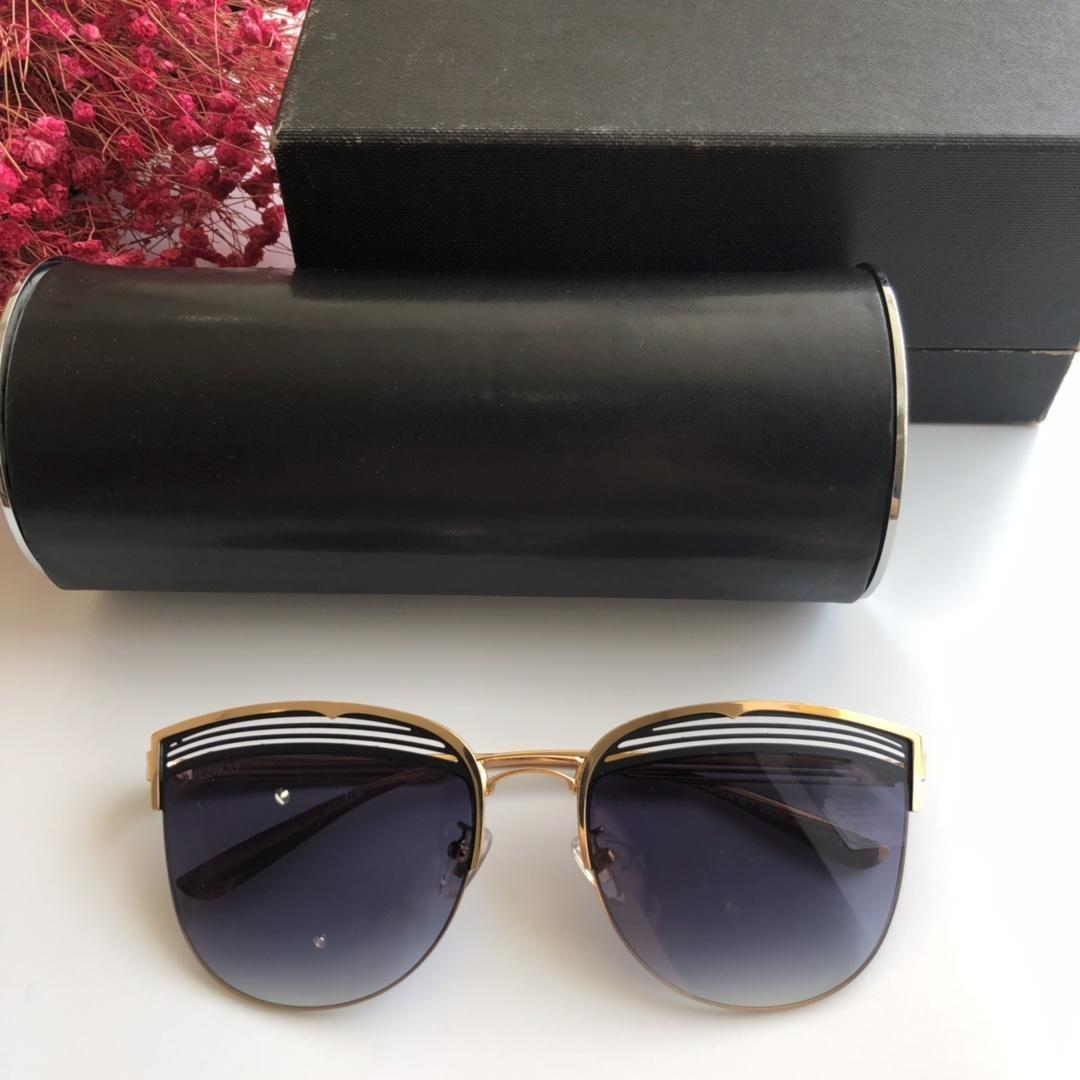 Marca de óculos de sol-2019 novo Bv6118 bacana olho de gato de metal duplo cor original tamanho oco quadro 58-18-140 com caixa