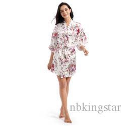 Vestiti Cerimonia Kimono.Acquista Raso Di Seta Sposa Di Cerimonia Nuziale Damigella Donore