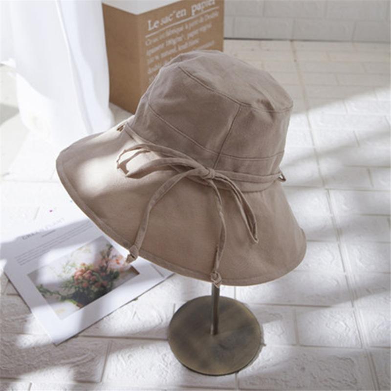 Net célèbre pêcheur chapeau Je jour cravate chapeau D'été Corée version marée Large Bord Pare-Soleil Soleil Bloc WS-2907